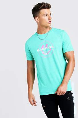 boohoo MAN Official Print T-Shirt