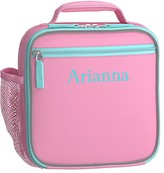 Pottery Barn Kids Classic Lunch Bag, Fairfax Pink/Aqua Solid
