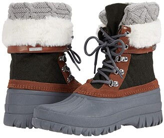 Skechers Windom - Quilted (Olive/Grey) Women's Boots