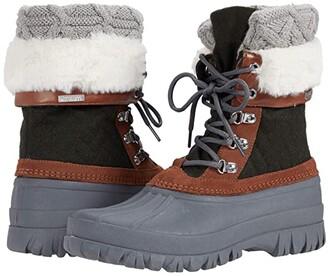 Skechers Windom - Snow Mood (Olive/Grey) Women's Boots