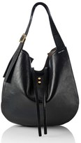 Jimmy Choo 'Mardy' Leather & Genuine Snakeskin Shopper - Black