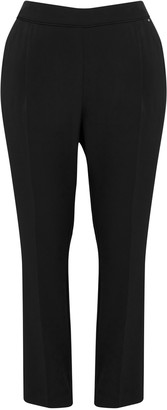 Evans Black Pull-On Tapered Trousers