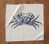 Pottery Barn Crab Floursack Tea Towel
