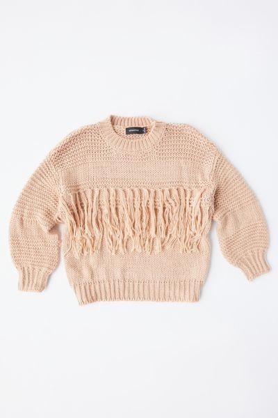 MinkPink Yoanna Chunky Fringe Sweater