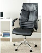 Safavieh Martell Leather Office Chair in Black