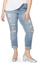 Rachel Roy Plus Size Women's Ripped Girlfriend Jeans