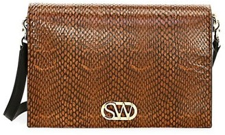 Stuart Weitzman Della King Cobra Snake-Print Shoulder Bag