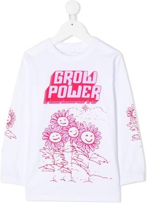 Stella McCartney Kids Grow Power long-sleeve T-shirt