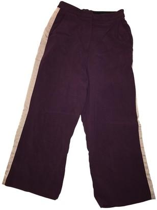 Roksanda Ilincic Purple Wool Trousers for Women