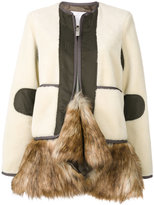 Sacai jacket with faux fur hem