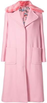 VIVETTA faux-fur collar coat