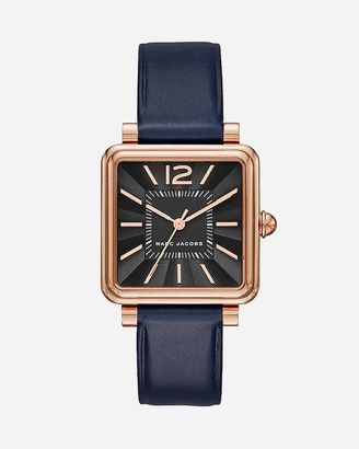 Express Marc Jacobs Rose Gold Leather Vic Watch
