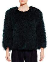 Pink Tartan Mongolian Fur Coat