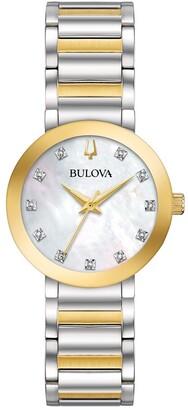 Bulova Women's 98P180 Modern Diamond Accent Two-tone Bracelet Watch