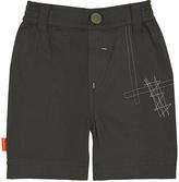 Kushies Charcoal Embroidered Shorts - Infant