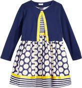 Sweet Heart Rose 2-Pc. Cardigan & Daisy-Print Dress Set, Little Girls (4-6X)