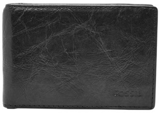 Fossil Ingram Rfid Money Clip Bifold Wallet Black