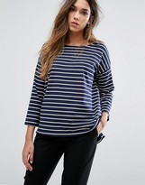 French Connection 3/4 Sleeve Stripe T-shirt