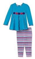 Kids Headquarters Baby Girls' Teal 2-pc. Tunic and Leggings Set