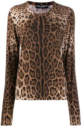 Dolce & Gabbana Leopard Knitted Jumper