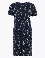 Marks and Spencer Pure Cotton Polka Dot Mini T-Shirt Dress