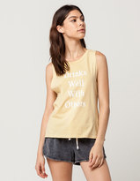 POOLHOUSE Drinks Well Womens Muscle Tank
