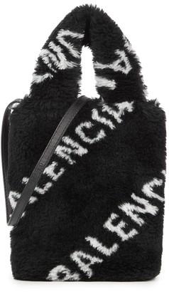 Balenciaga Everyday faux fur cross-body phone case