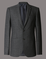 Autograph Pure Wool Tailored Fit 2 Button Jacket With Buttonsafetm