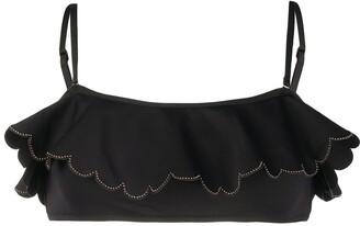 Zimmermann Frill Studded Bikini Top