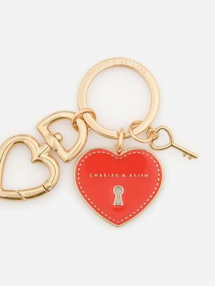 Charles & Keith Heart Lock Keychain