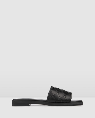Jo Mercer - Women's Black Flat Sandals - Insta Flat Slides - Size One Size, 36 at The Iconic