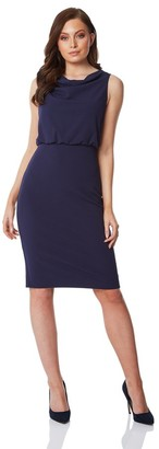M&Co Roman Originals cowl neck fitted dress