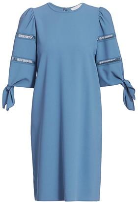 See by Chloe Tie-Sleeve Shift Dress