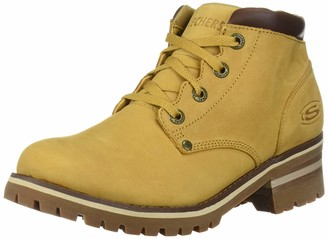 Skechers Women's Laramie 2-Mid-4-Eye Logger 3M Scotchgard Chukka Boot Wheat 6 M US