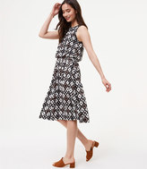 LOFT Patchwork Blouson Dress