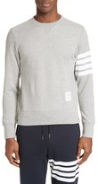 Thom Browne Men's Stripe Sleeve Sweatshirt