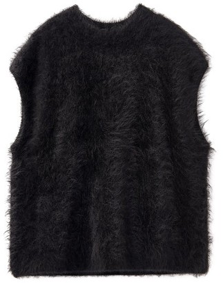 Totême Sleeveless Alpaca-blend Sweater - Black