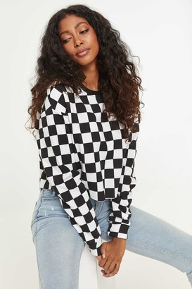 Ardene Checkerboard Cropped Sweater