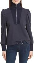 Rebecca Taylor Women's Turtleneck Fleece Zip Pullover
