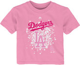 Majestic Toddler Girls' Los Angeles Dodgers Pouring Stars T-Shirt