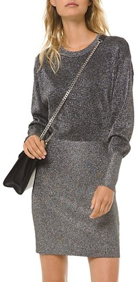 MICHAEL Michael Kors Metallic Knit Sheath Dress