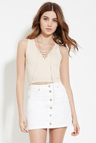 Forever 21 FOREVER 21+ Lace-Up Sweater Top
