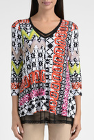 Lynn Ritchie Colorful Mosaic Tunic Top