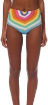 Mara Hoffman Crochet Lace Up High Waisted Bikini Bottom