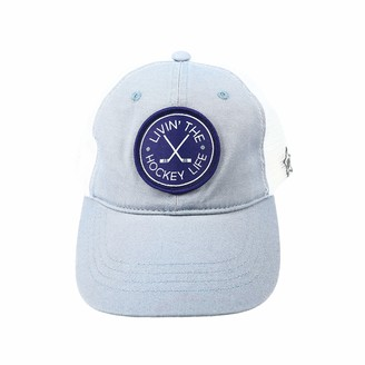 Pavilion Gift Company Livin' The Hockey Life-Gray Unisex Adjustable Snapback Mesh Baseball Hat