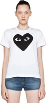 Comme des Garcons Cotton Tee with Red Emblem in Black.