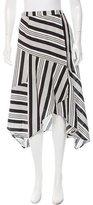 Zimmermann Striped Wrap Skirt