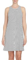 CeCe Women's Polka Dot Twist Back Knit Shift Dress