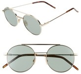 Fendi Men's 52Mm Round Sunglasses - Gold