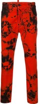 DSQUARED2 tie-dye print trousers